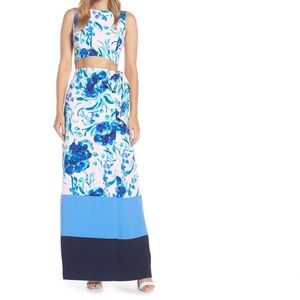 "NWT Lilly Pulitzer ""Jemma"" Crop Top & Maxi Skirt"